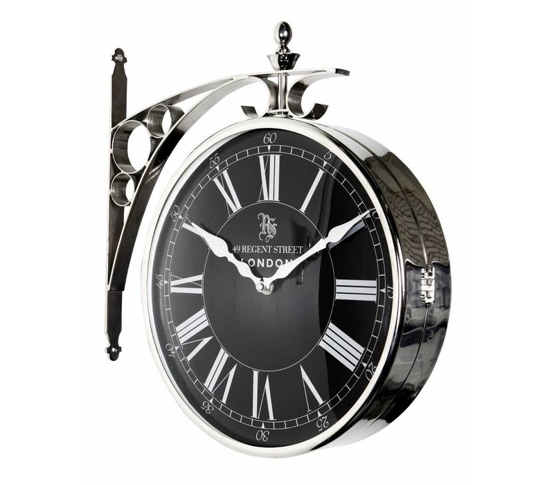 Station clock Regent Street double-sided in classic style 39 cm