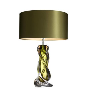 Eichholtz Table lamp 'Carnegie' stainless steel with a shade in Olive green