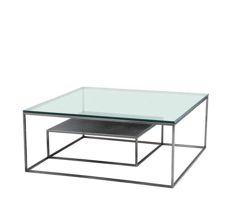 Glass Coffee table 'Durand', 90x90 x H. 38 cm
