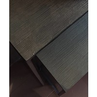 Konsolentisch in der Farbe Bronze - Set aus 2