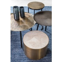 Round End table Bronze