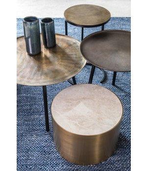 Dome Deco Round End table Bronze