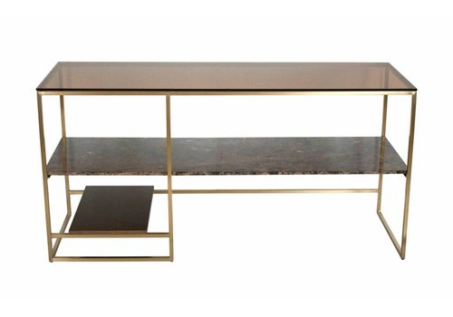 Dome Deco Console tafel 'Marble, wood, glass'