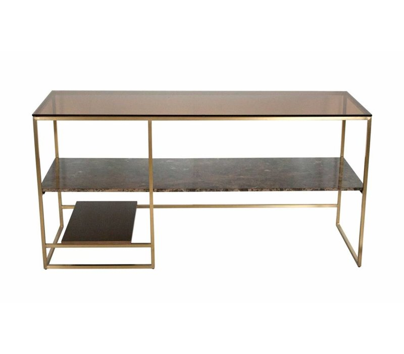 Console table 'Marble, wood, glass'