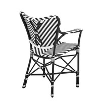 Dining chair - Colony black & white with arm