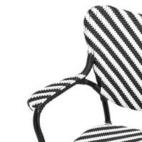 Esszimmerstuhl - Colony black & white with arm