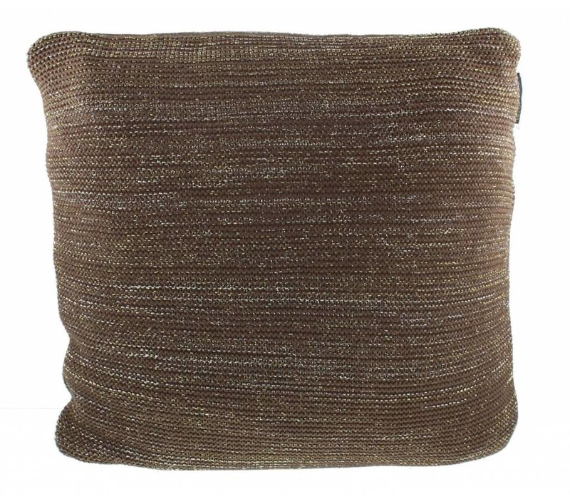 Knitted cushion Alan in color Brown