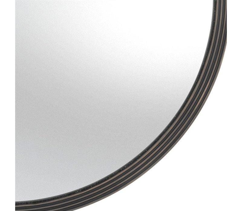 round design mirror in brons frame, 'Gladstone' large