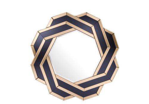 Eichholtz Amber/ Zwart spiegel 'Mulini'