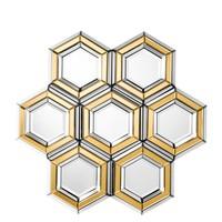 Wall mirror 'Dunello' Gold