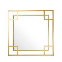 Quadratischer Spiegel 'Morris' mit goldfarbenem Rahmen 90x 90x D. 5cm