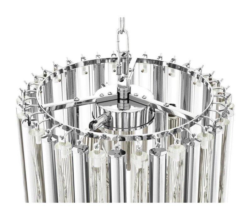 Chandelier Gigi S nikkel 'finish heeft een diameter van ø 35 x H. 68 cm
