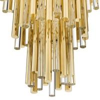 Chandelier Gigi L gouden 'finish heeft een diameter van ø 57 x H. 88 cm