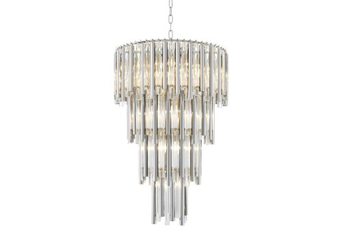 Eichholtz Chandelier Gigi L nickel 'finish'