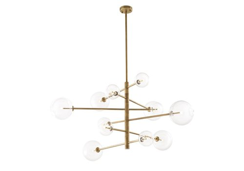 Eichholtz Chandelier Argento L - antique brass