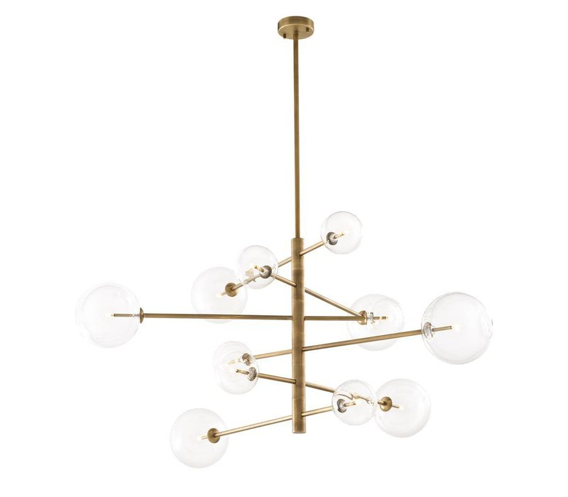 'Argento L' chandelier antique brass with a diameter of 130 cm