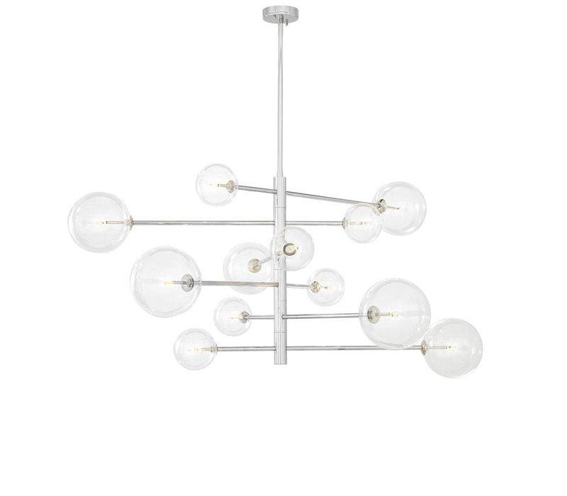 Chandelier Argento L mit 130cm Durchmesser