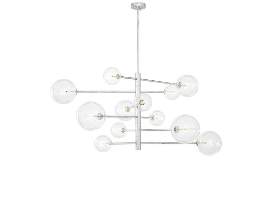Chandelier Argento L met diameter 130cm