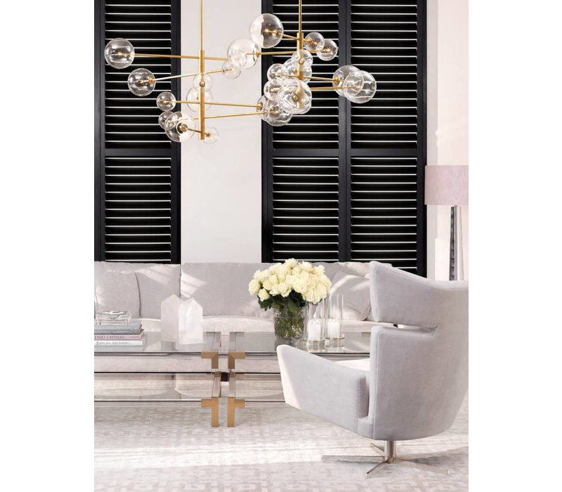 Chandelier 'Argento S' antique brass with a diameter of 90 cm