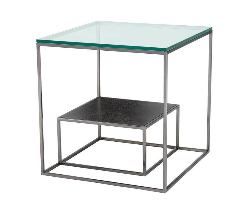 Glass Side Table 'Durand', 55 x 55 x H. 57 cm
