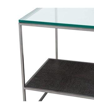 Eichholtz Glass Side Table 'Durand', 55 x 55 x H. 57 cm