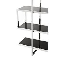 Cabinet Soto is 180cm hoog en gemaakt van hoogglans RVS