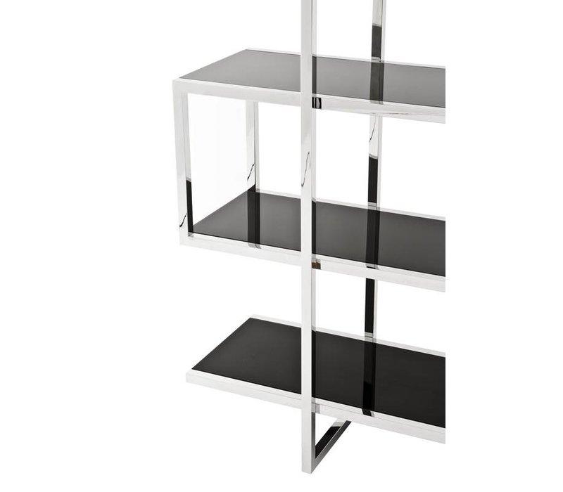 Cabinet 'Soto' ist 180cm hoch und gemacht aus Hochglanz Stahl