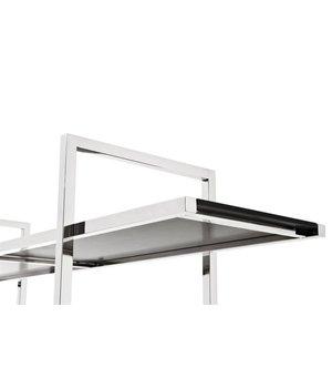 Eichholtz Cabinet Soto is 180cm hoog en gemaakt van hoogglans RVS