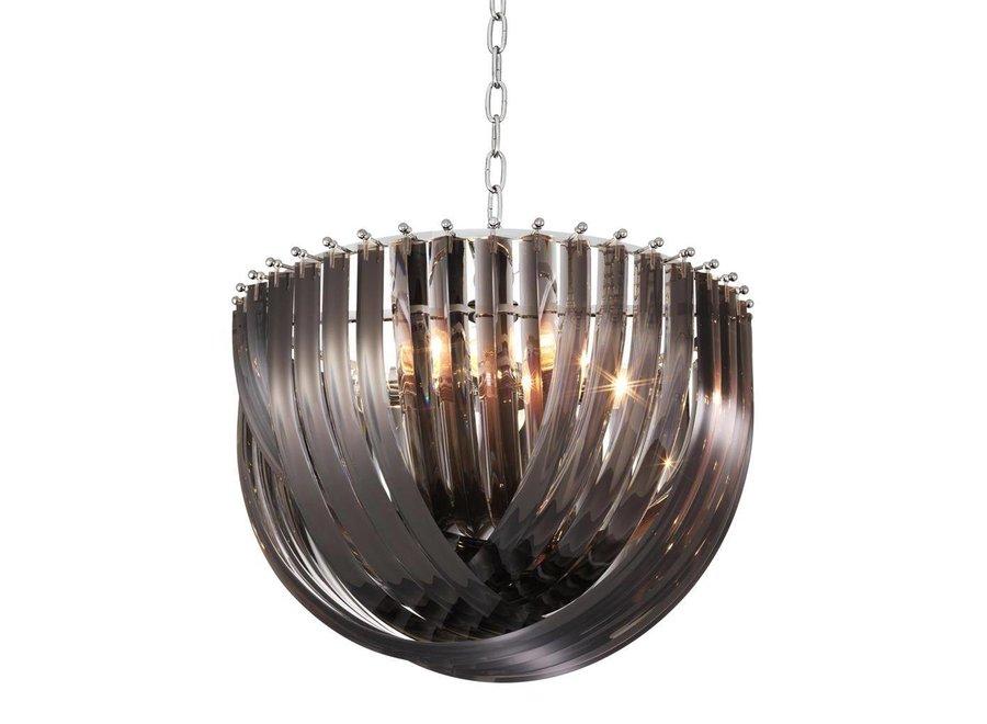 Hanglamp Murano L van gebogen acryl met een doorsnede van 50 cm