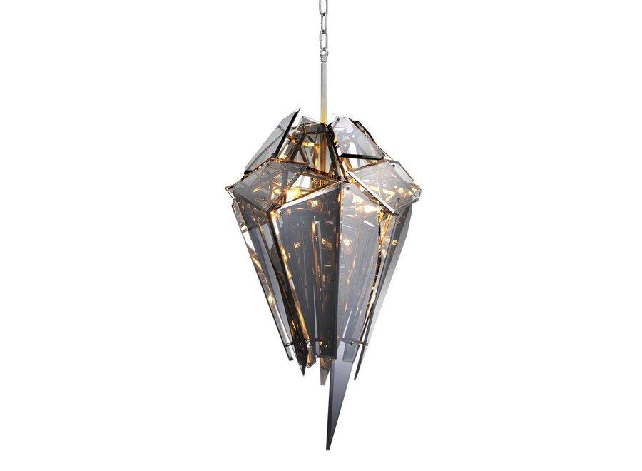 Hanglamp 'Chandelier Shard' van het Nederlandse merk Eichholtz, maat 49 x H. 60 x D. 60 cm