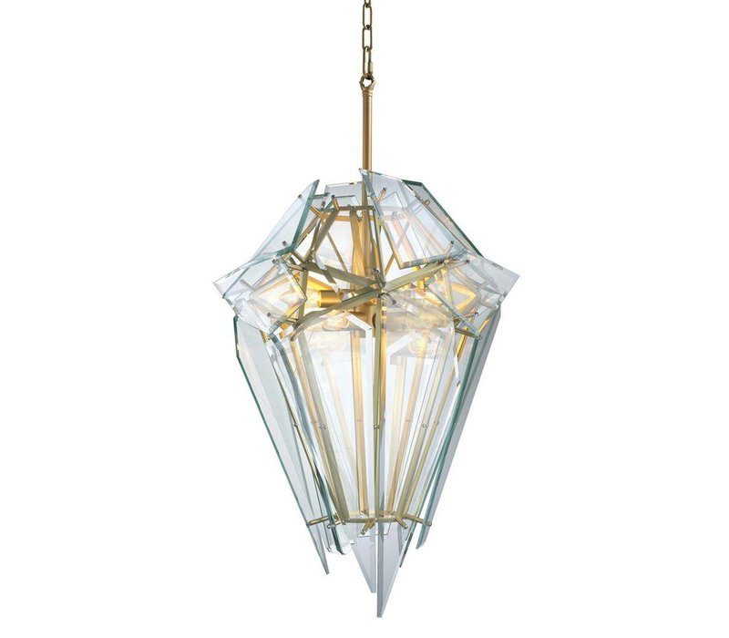 Hängelampe 'Chandelier Shard gold'