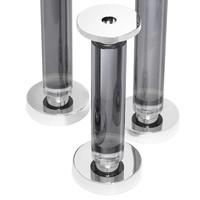 'Chapman Smoked set of 3' candlesticks