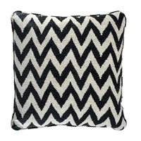 Decorative cushion Chevron color black 60x60 cm