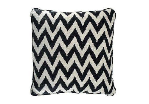 EICHHOLTZ Cushion Chevron black 60 cm