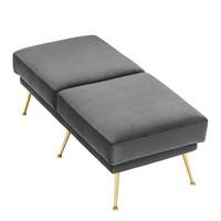 Large footstool Grijs  Tahoe 125 cm