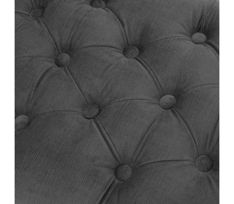 Hocker 'Benedict' Granite Gray 160 cm