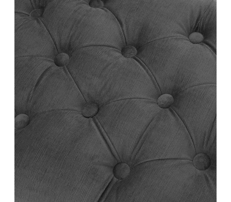 Hocker 'Benedict' Granitgrau 160 cm