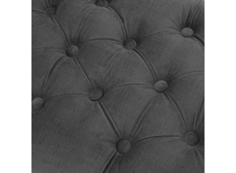 Hocker 'Benedict' Granite Grey 160 cm
