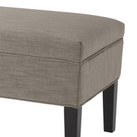 Large footstool 'Truman' Ecru Velvet 140 cm