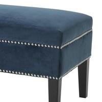 Large footstool 'Truman' Roche Blue Velvet 140 cm