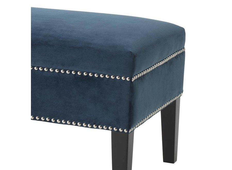 Hocker 'Truman' Roche Blue Velvet 140 cm