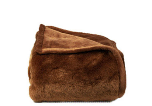 Dome Deco Plaid Faux Fur Brown
