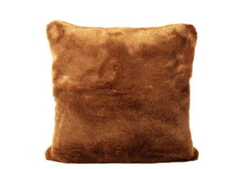 Dome Deco Cushion Brown Fur