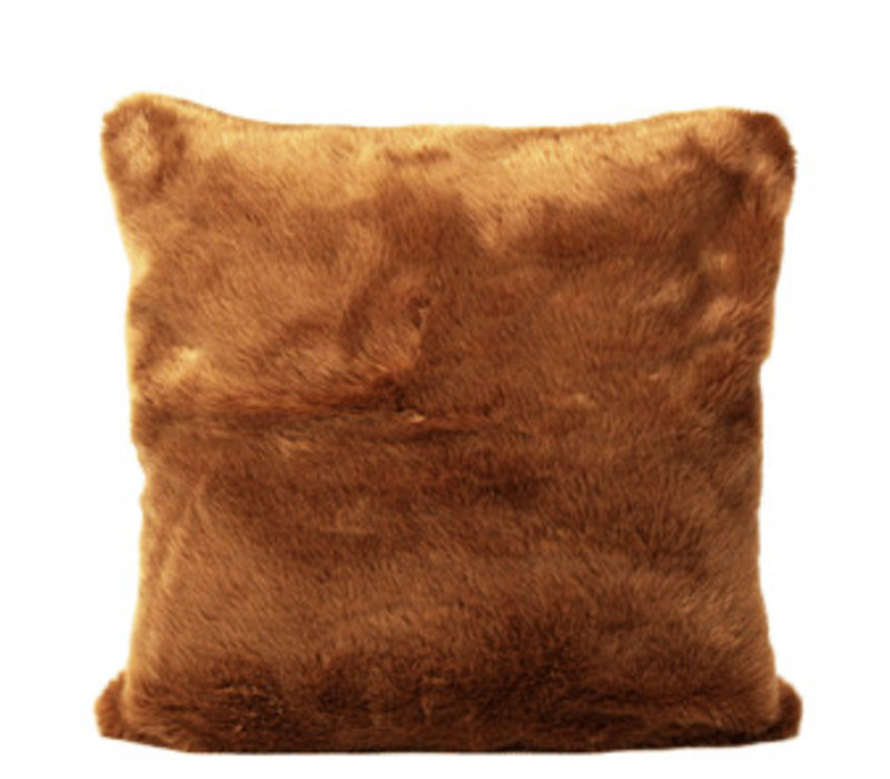 Cushion Brown Fur