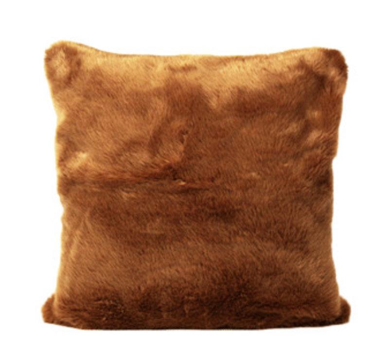 Pelzkissen in der Farbe Brown