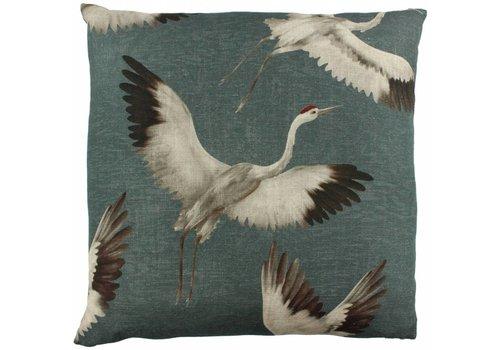 CLAUDI Design Cushion Aza Grey Mint