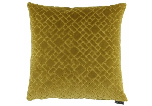 CLAUDI Cushion Assane Mustard