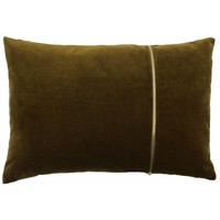 Cushion Rosana in color Bronze with gold zipper