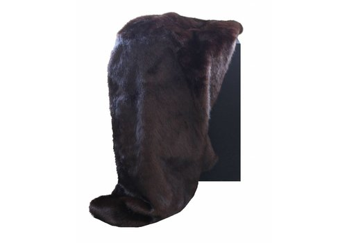 CLAUDI Chique Faux fur plaid Chocolate