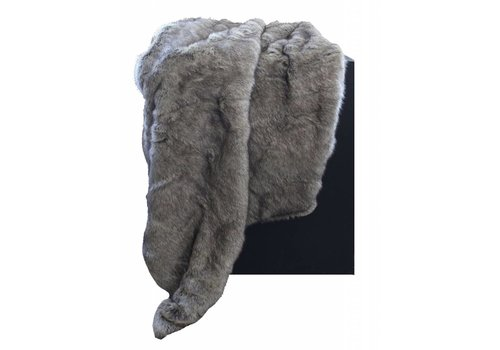CLAUDI Chique Faux fur plaid Grey / Taupe